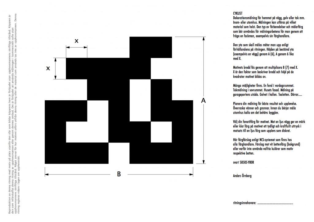 Cyklist, svart ritning - Bicykler, black blueprint (!)